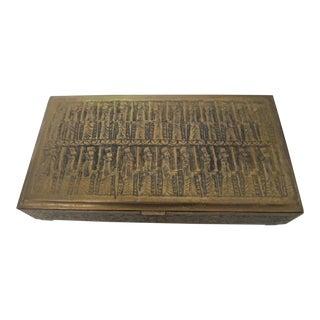 Egyptian Brass Box