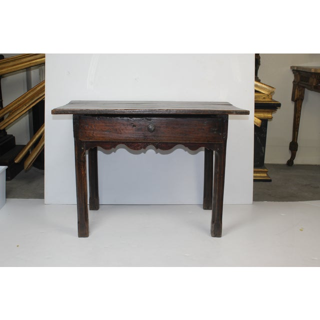 French Provincial Side Table with Drawer - Image 2 of 6