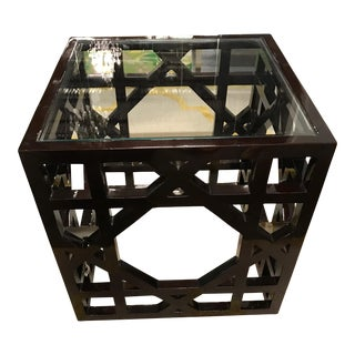 "Regina Andrew ""Macro"" Lacquered Trellis Side Table"