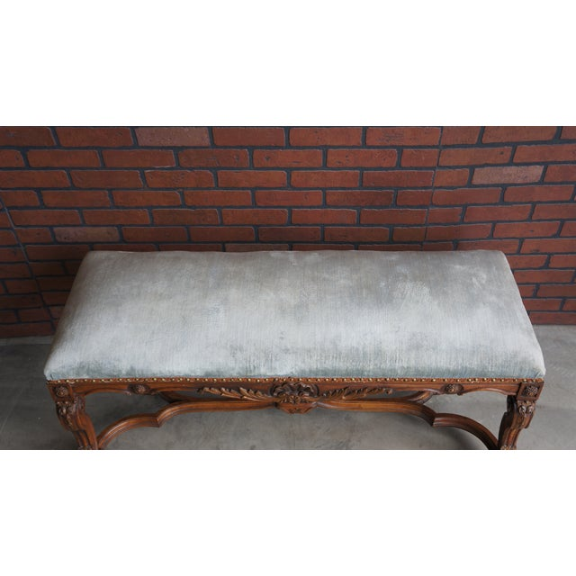 Antique French Provincial Bench - Image 7 of 9