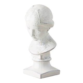 Italian Terracotta Glazed Bust Figurine