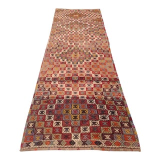 Vintage Turkish Kilim Runner - 2′5″ × 9′1″