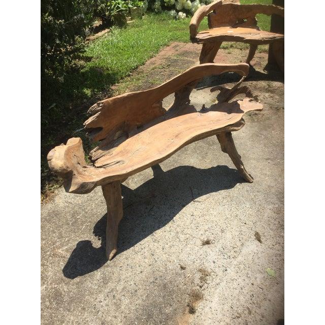 Teakwood Root Bench - Image 3 of 8