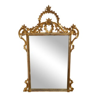 Italian Gilt Wood Mantle Mirror