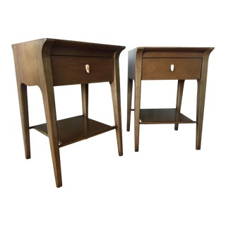 A Pair of Drexel Van Koert Mid Century Nightstands