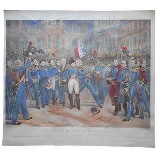 """19th C. Antique Napoleon Engraving """"Adieux..."""""""