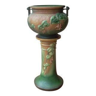 Roseville Fuchsia Jardiniere & Pedestal- Set of 2