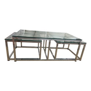 Chrome & Glass Nesting Coffee Table