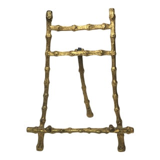 Vintage Brass Bamboo Picture Easel