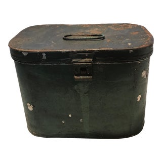 Antique Green Chippy Metal Box