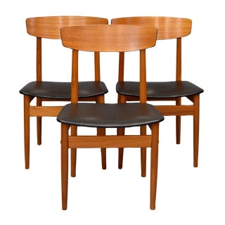 Danish Teak Dining Chairs by Viborg - Set of 3