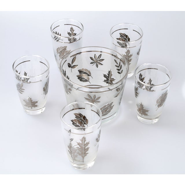 Silver Leaf Drinking Glasses Set - Set of 6 - Image 2 of 7
