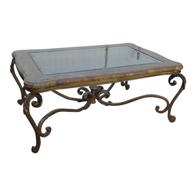 Marble And Glass Coffee Table Chairish
