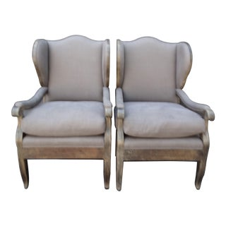 Wing Chairs - Pair