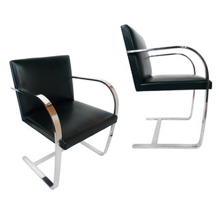 Brno Chairs by Mies Van Der Rohe for Knoll - Pair