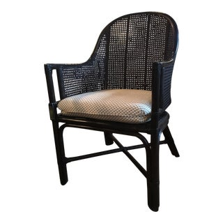 Transitional Style Cane Chair