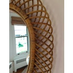 Image of Vintage Franco Albini Rattan Large Mirror