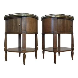 Baker Furniture End Tables / Nightstands -- A Pair