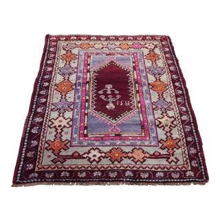 Vintage Turkish Decorative Rug - 3′2″ × 4′4″