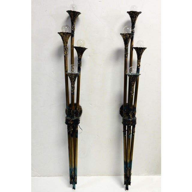 Feldman Company Brutalist Wall Sconces - A Pair - Image 2 of 9
