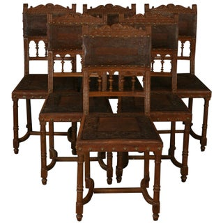 Henry II French Dining Chairs - Set of 6