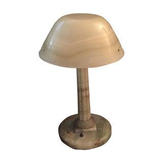 Antique 1920's Onyx Lamp