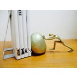 Image of Gold Painted Modernist Man Pushing Boulder Bookend