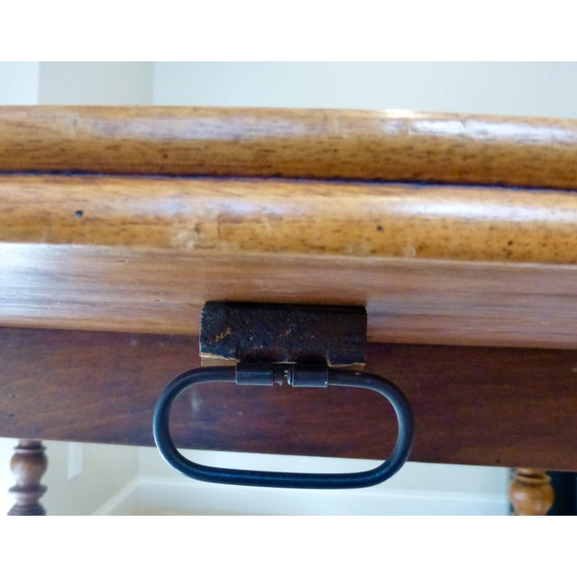 Antique French Walnut Drop Leaf Table - Image 5 of 7