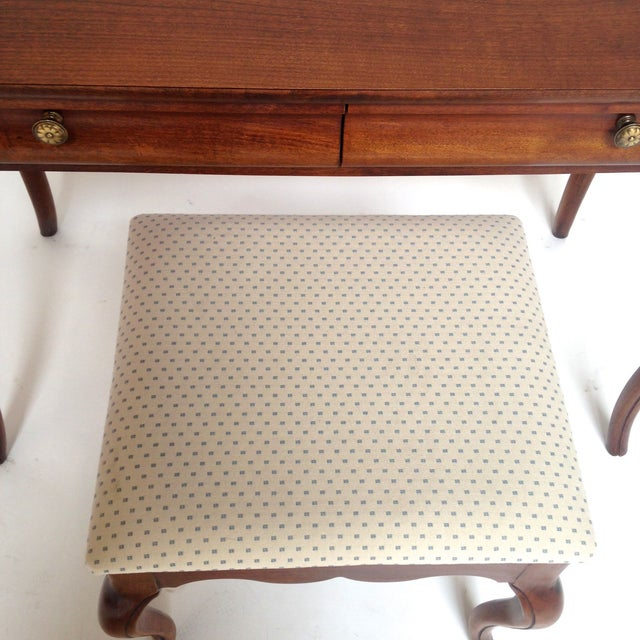 French Style Vanity Hall Table with Stool Set - Image 6 of 6