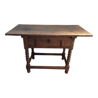 Spanish Colonial Table With Iron Hardware