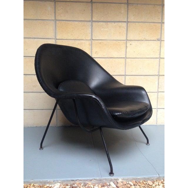Eero Saarinen for Knoll Vintage Black Womb Chair - Image 2 of 11