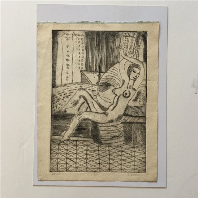 """Lithograph """"Renee"""" by S.Szabo - Image 2 of 10"""