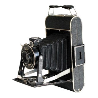 1930s Kodak Junior 620 Folding Camera With Leather Case