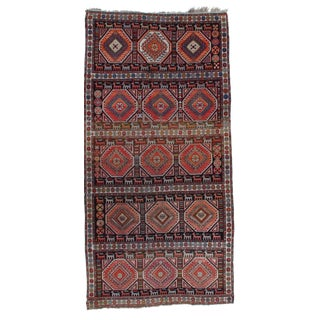 "Pasargad N Y Russian Kazak Antique Lamb Wool Rug - 3'7"" X 7'3"""