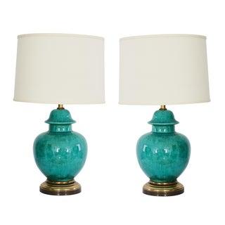 1960's Regency Urn Lamps - A Pair
