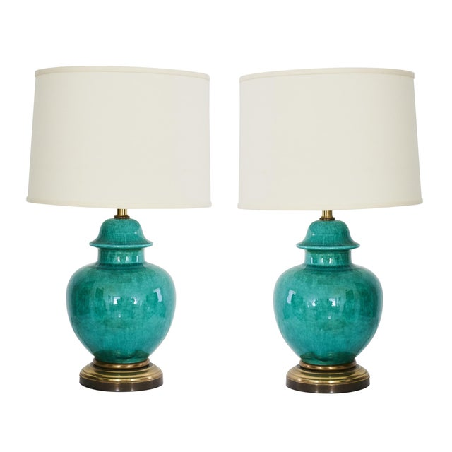 Image of 1960's Regency Urn Lamps - A Pair