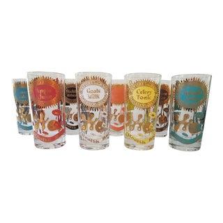 Georges Briard Mid-Century Glasses - Set of 8