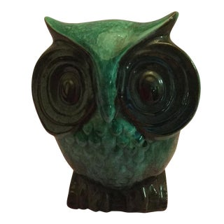 Mid Century Artistic Hoot Owl Bank