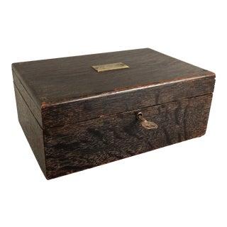 Tiger Oak Box with Lock & Key