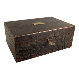 Tiger Oak Box with Lock & Key