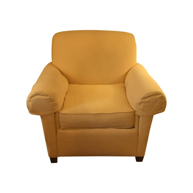 Image of Norwalk Yellow Upholstered Chairs - A Pair