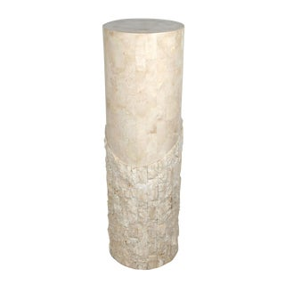 Maitland-Smith Tessellated Stone Over Wood Pedestal