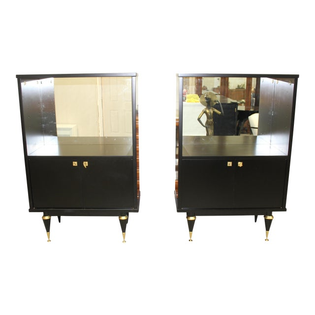 French Art Deco Sideboard Display Cabinets - A Pair Circa 1940s - Image 1 of 12