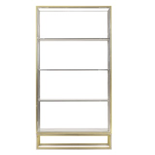 Nickel & Brass Metal Bookcase