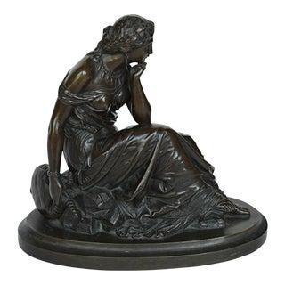 19th Century Patinated Bronze Terpsichore Sculpture