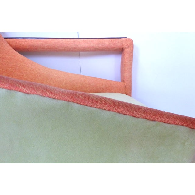 Angled Mid-Century Modern Club Chairs - Pair - Image 7 of 9