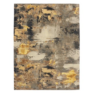 Modern Style Contemporary Abstract Texture Rug - 9' x 12'1""