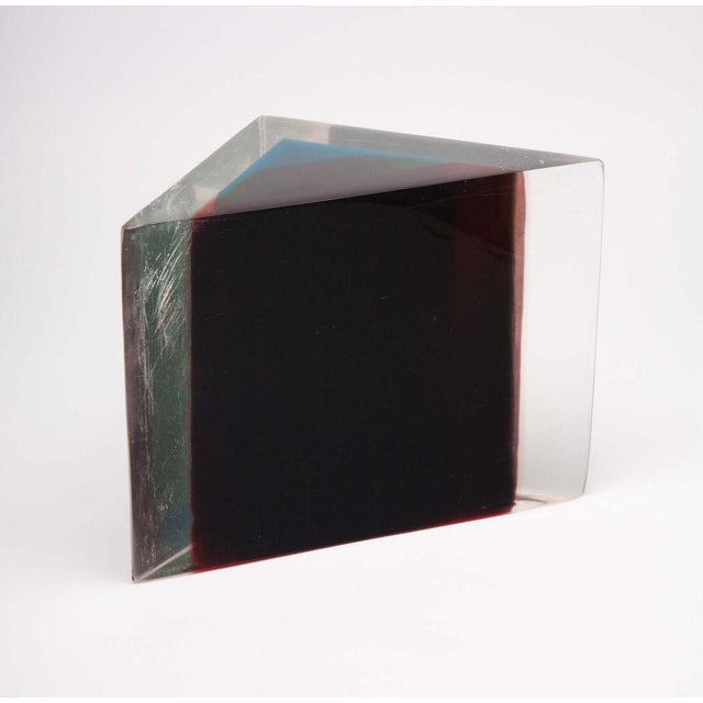Image of Acrylic Rainbow Triangular Sculpture by Dennis Byng