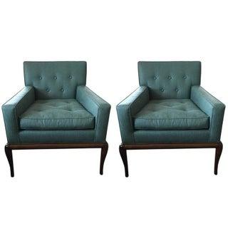 Mid-Century Modern T.H. Robsjohn-Gibbings Style Lounge Chairs - A Pair