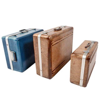 Set of Three Fiberglass Suitcases